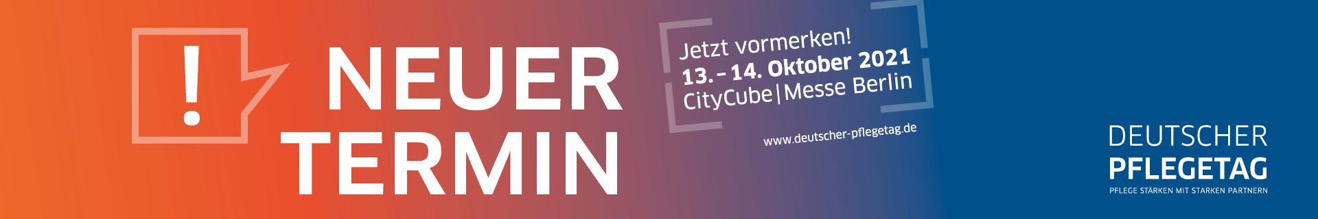 Neuer Termin: Deutscher Pflegetag 2021 am 13. und 14- Oktober!