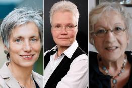 Die drei Preisträgerinnen Prof. Dr. Darmann-Finck, Prof. Hundenborn und Prof. Dr. Knigge-Demal